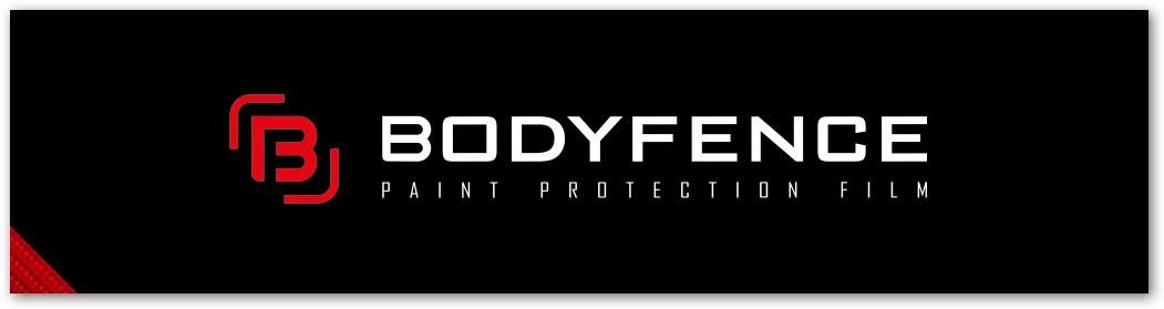Bodyfence logo na crni podlagi